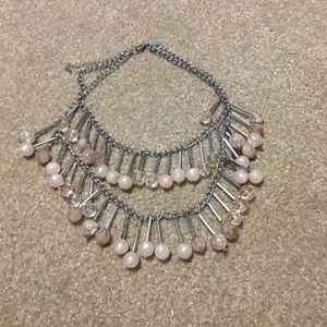 Double layer fashion necklace